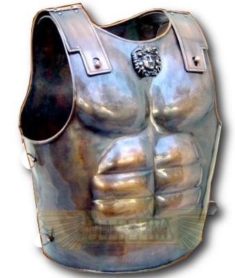 bronze spartan armor cuirass