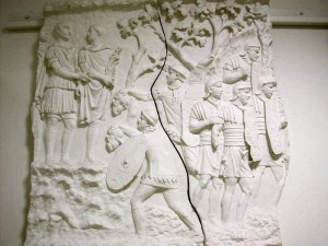 Roman Soldiers In Battle