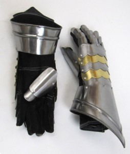 Gauntlet Pair with Brass