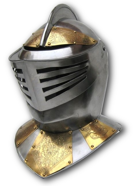 European Knight Helmet - Embossed